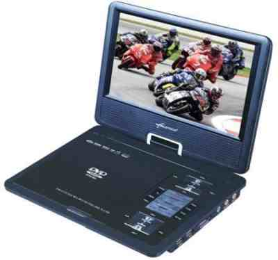 "Worldtech 9.8"" with Screen Battery Laptop Style Portable Dvd Player"