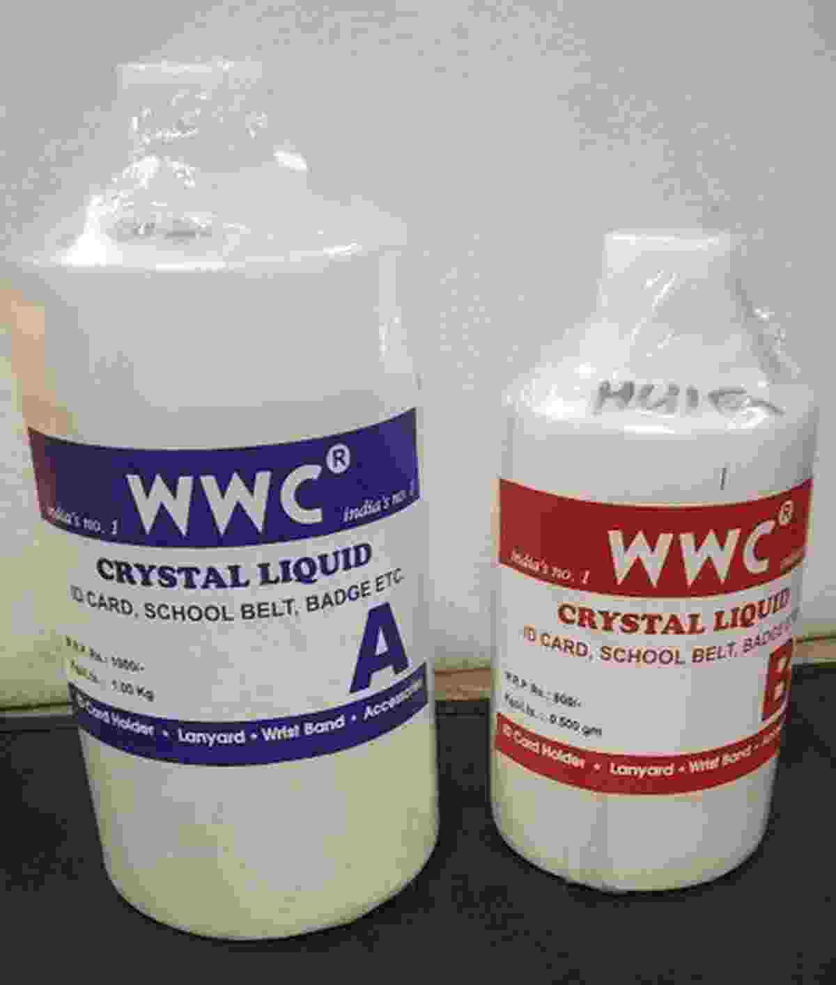 WWC Crystal iCard School Belt & Badges Lamination Chemical Liquid