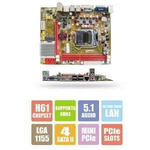 Zebronics Intel H61 Chipset LGA 1155 Socket DDR 3 Motherboard