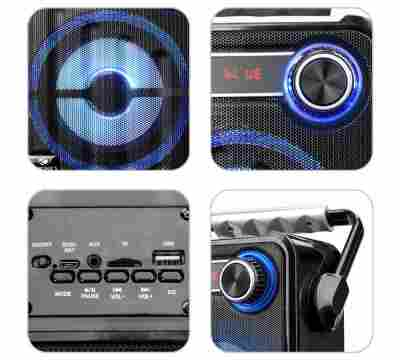 Zebronics BUDDY Portable BT Wireless with built in FM / USB / SD card slot Bluetooth Speaker