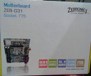 Zebronics Intel G31 Chipset LGA 775 Socket DDR 2 Motherboard