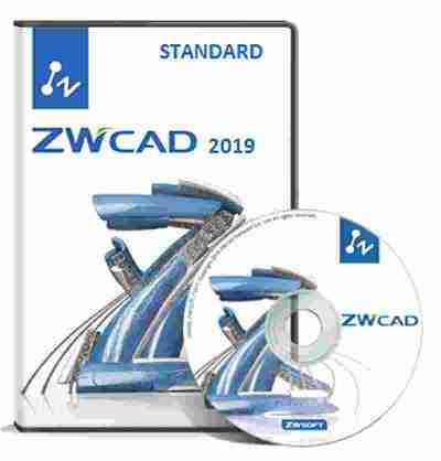 ZWCAD 2019 Standard 2D Software ESD Call for Best Price